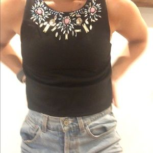 Top shop bejeweled tank